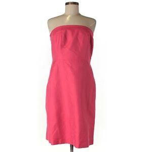 Ann Taylor Strapless Pink Dress